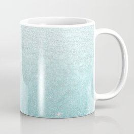 Modern chic teal pastel gradient faux glitter Coffee Mug