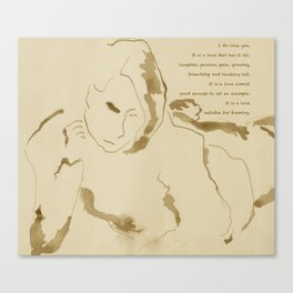 """""""Leisure"""" Drawing with poem:  """"Suitable For Framing"""" Canvas Print"""