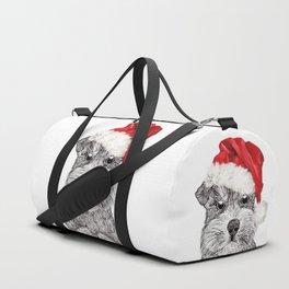 Christmas Schnauzer Duffle Bag