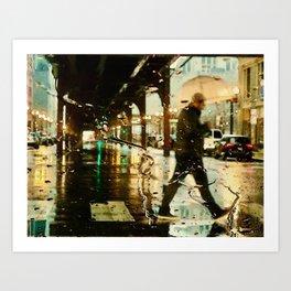 Tracks & Rain Art Print