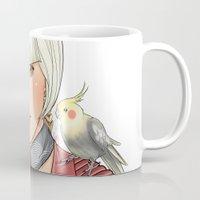 birdy Mugs featuring Birdy by Lotty