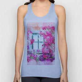 Floral Window Unisex Tank Top
