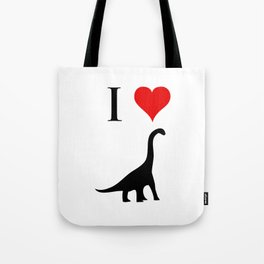 I Love Dinosaurs - Brachiosaurus Tote Bag