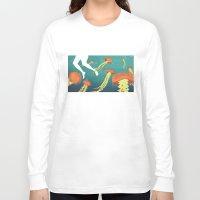 jellyfish Long Sleeve T-shirts featuring jellyfish by Kerry Hyndman