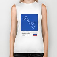 moscow Biker Tanks featuring Moscow Raceway by MS80 Design