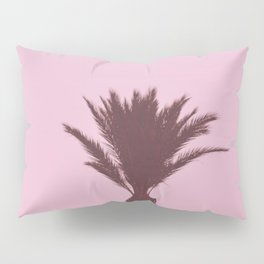 Palm Tree With Pink Background Pillow Sham