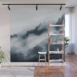 Foggy Mountains Wall Mural