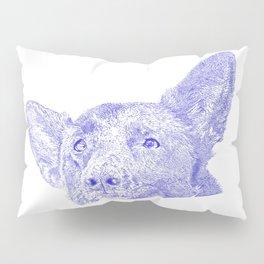 Mitzi takes it easy, blue Pillow Sham
