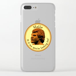 Hello, Is it me you're looking for? Lionel Clear iPhone Case