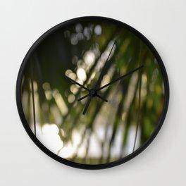 Natural Shade (Tropical Fan Palm) Wall Clock