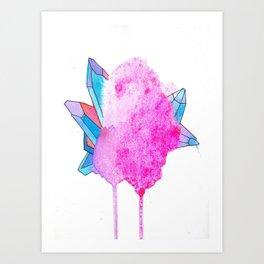glitter crystal Art Print