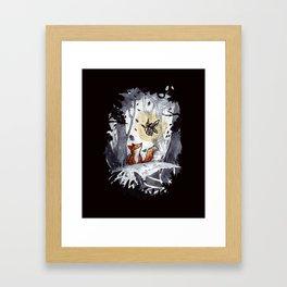 Fox and the Moth Framed Art Print