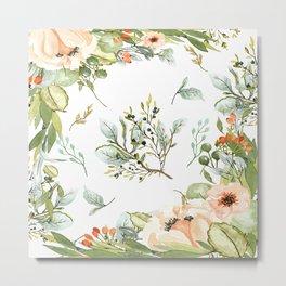 Watercolour Floral Print Metal Print