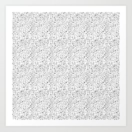 spotty dotty in black and white Art Print