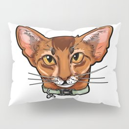 Abyssinian cat face Cats funny cute sweet gift Pillow Sham