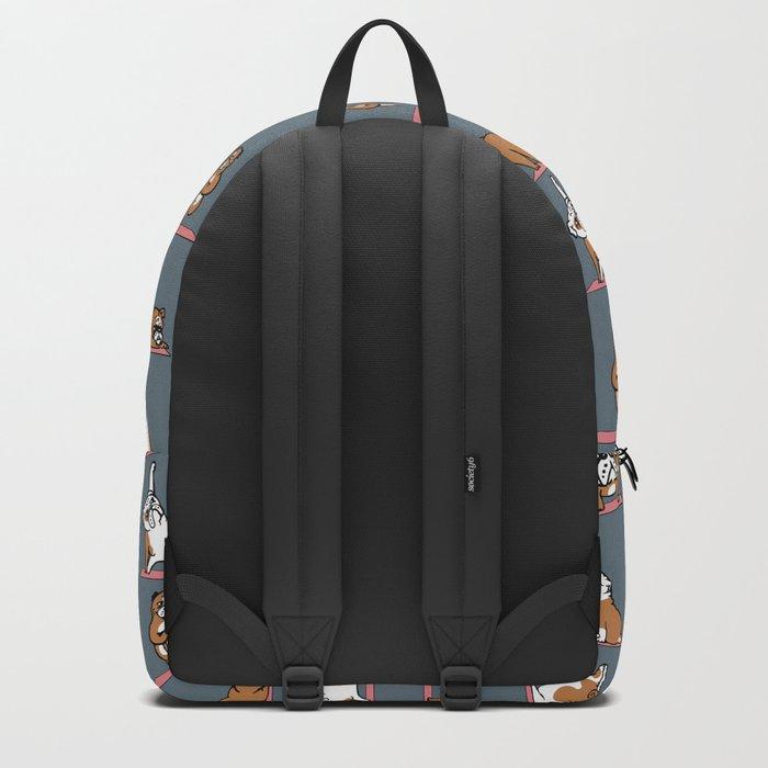 English Bulldog Yoga Backpack