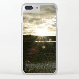 Sun Beams Clear iPhone Case