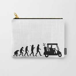 Evolution - golf  black&white Carry-All Pouch