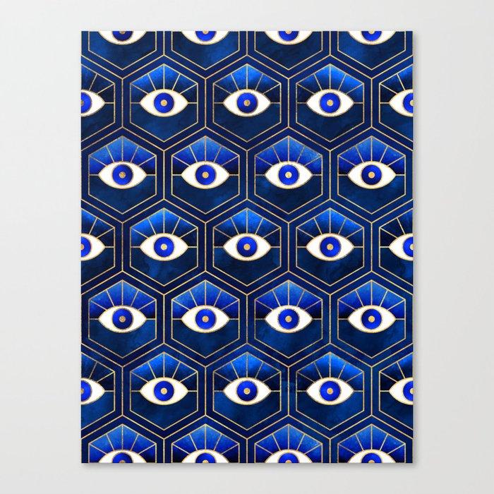 Eyes / Blue Canvas Print