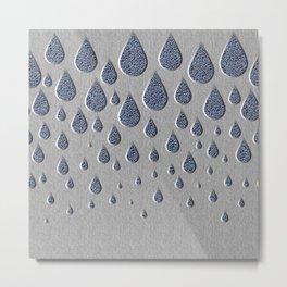 Crystallised rain drops Metal Print