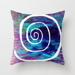White Spiral S49 Throw Pillow
