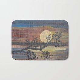 Sunset sky trees Scenery Painting Bath Mat