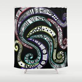 Swirling Zentangle Shower Curtain