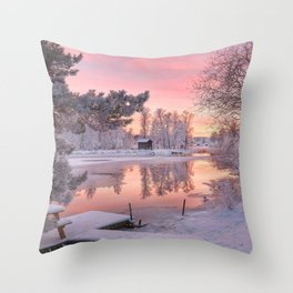 WINTER SCENE-3118/1 Throw Pillow