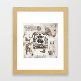 Country Western Framed Art Print
