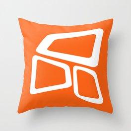 Mid Century In Burnt Orange Throw Pillow