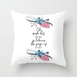 Maggie Stiefvater Pages of Books Quote Throw Pillow