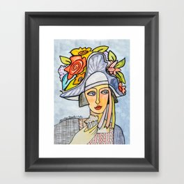 Couture Chapeau Framed Art Print