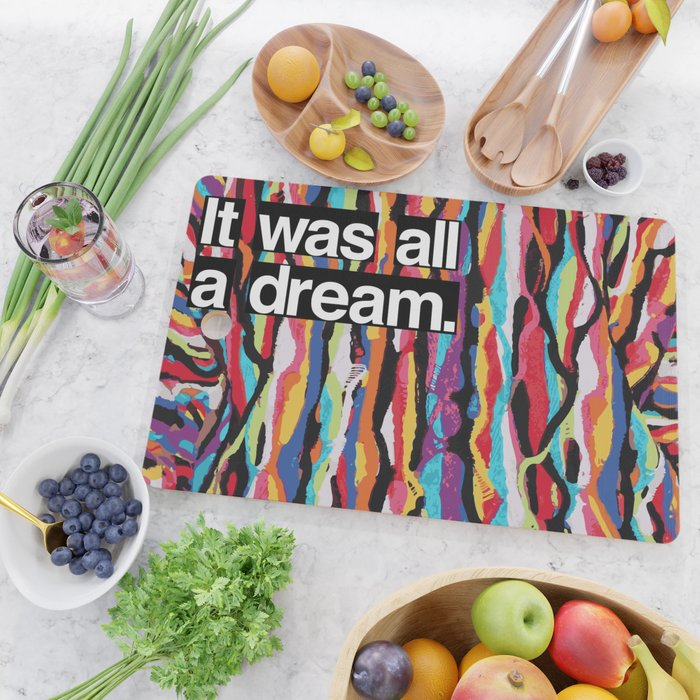 """It Was All A Dream"" Biggie Smalls Inspired Hip Hop Design Cutting Board"