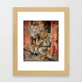 Meerkat and Wombat Framed Art Print