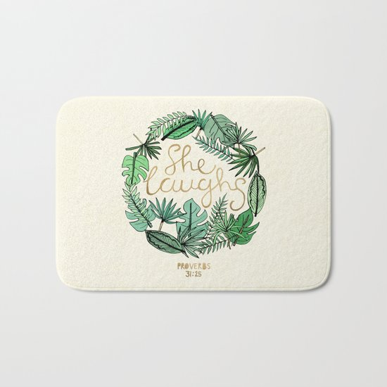 Proverbs 31:25 Bath Mat