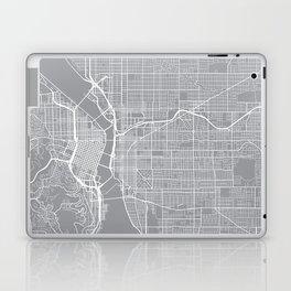 Portland Map, Oregon USA - Pewter Laptop & iPad Skin