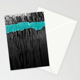 Aqua Stripe Stationery Cards