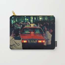Taxi stuck at the Shibuya Crossing Carry-All Pouch