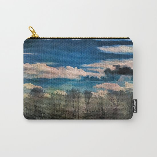 Watercolor Foggy Woodlands Carry-All Pouch