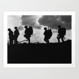 Soldier Silhouettes - Battle of Broodseinde Art Print