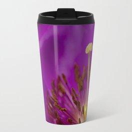 A Macro Image of a Purslane Flower Pistil, Stamen and Petals Travel Mug