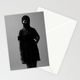 B with ski mask Stationery Cards