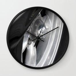 Wheel of vintage american car Wall Clock