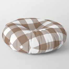 Gingham (Coffee/White) Floor Pillow