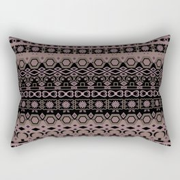 Colorful pink brown ethnic ornament. Rectangular Pillow