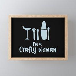 I'm A Crafty Woman Framed Mini Art Print