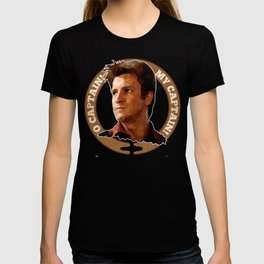 Cpt Malcolm Reynolds // Firefly // Nathan Fillion, Low Poly, Browncoats, Captain Tightpants T-shirt