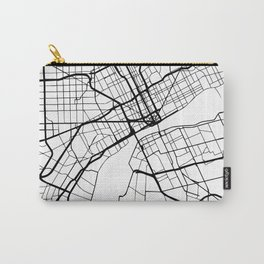 DETROIT MICHIGAN BLACK CITY STREET MAP ART Carry-All Pouch