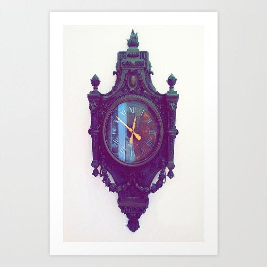 Vintage Clock Art Print