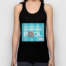 My favorite color is swimming pool Unisex Tank Top
